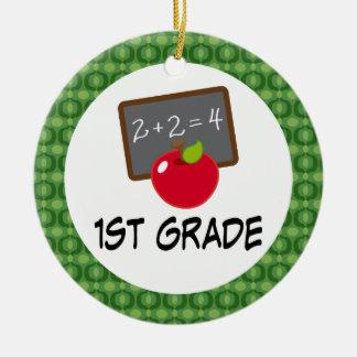 1st Grade School Apple Ornament Keesake Gift