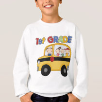 1st Grade School Bus Sweatshirt