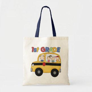 1st Grade School Bus Tote Bag