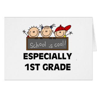 1st Grade School is Cool Card