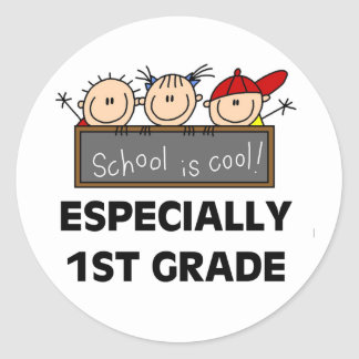 1st Grade School is Cool Classic Round Sticker