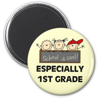 1st Grade School is Cool Tshirts and Gifts 2 Inch Round Magnet