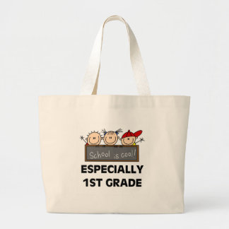 1st Grade School is Cool Tshirts and Gifts Large Tote Bag