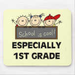 1st Grade School is Cool Tshirts and Gifts Mouse Mats