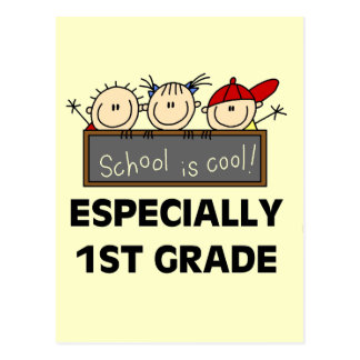 1st Grade School is Cool Tshirts and Gifts Postcard