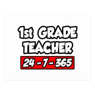 1st Grade Teacher 24-7-365 Postcards