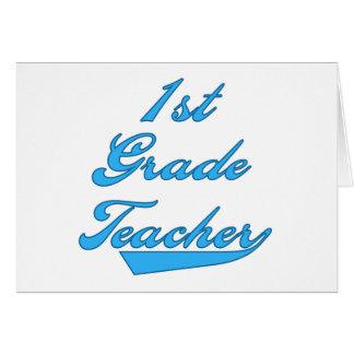 1st Grade Teacher Blue Card
