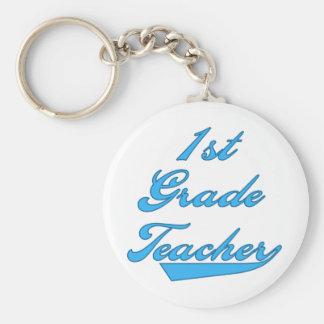 1st Grade Teacher Blue Keychain