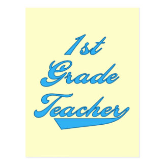 1st Grade Teacher Blue Tshirts and Gifts Postcard