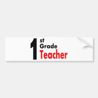 1st Grade Teacher Bumper Sticker