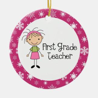 1st Grade Teacher Christmas Ornament