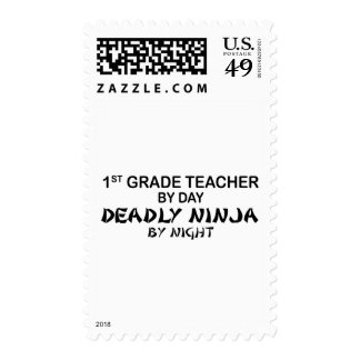 1st Grade Teacher Deadly Ninja by Night Postage Stamp