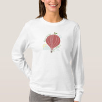 1st Grade Teacher Hot Air Balloon Apple T-Shirt
