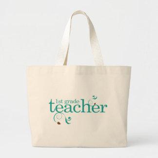 1st Grade Teacher Large Tote Bag