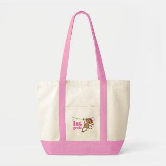 1st Grade Teacher Monkey Gift Tote Bag