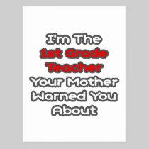 1st Grade Teacher...Mother Warned You About Postcard
