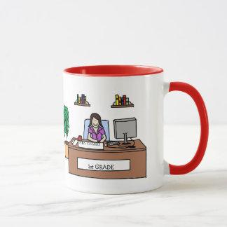 1st Grade Teacher Mug - Custom Name