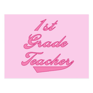 1st Grade Teacher Pink Tshirts and Gifts Postcard