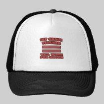 1st Grade Teacher .. Will Work For Bacon Trucker Hats