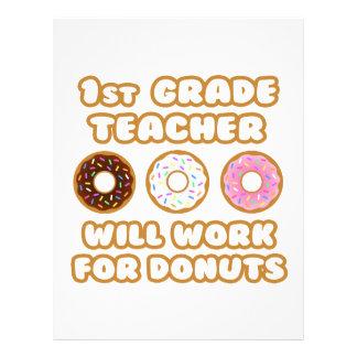 1st Grade Teacher .. Will Work For Donuts Letterhead