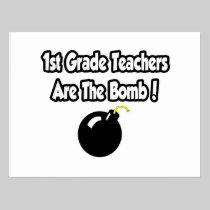 1st Grade Teachers Are The Bomb! Postcard