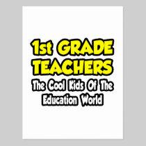 1st Grade Teachers...Cool Kids of Education Postcard