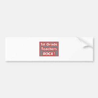 1st Grade Teachers Rock! Bumper Sticker
