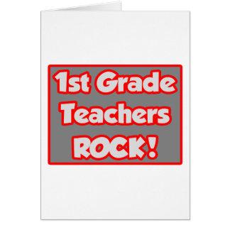 1st Grade Teachers Rock! Greeting Card