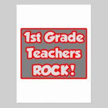1st Grade Teachers Rock! Postcard