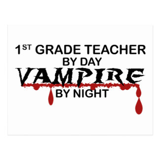 1st Grade Vampire by Night Postcard