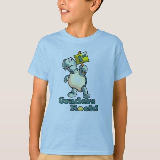 """1st Graders Rock"" Turtle Design T-Shirt"