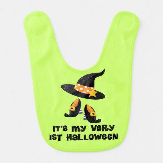 1st Halloween Baby Witch Infant Bib