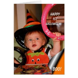 1st Halloween Boo Card
