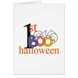1st Halloween Ghost BOO! Card