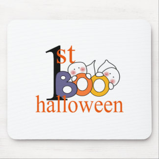 1st Halloween Ghost BOO! Mouse Pad