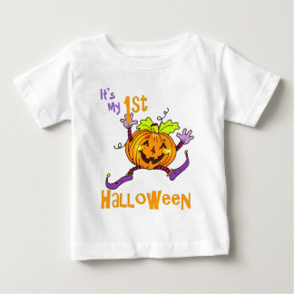 1st Halloween Happy Pumpkin Baby T-Shirt