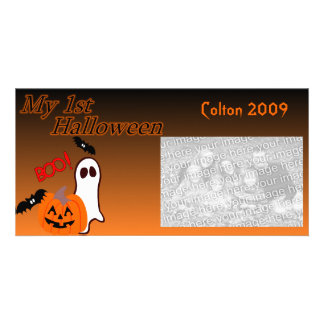 1st Halloween Photo Card