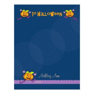 1st Halloween Pumpkin Scrapbook Paper 1