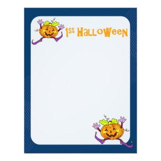 1st Halloween Pumpkin Scrapbook Paper 2