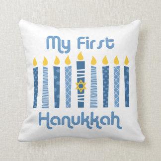 1st Hanukkah Candles Throw Pillow