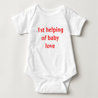 1st helping of baby love baby bodysuit