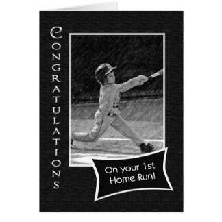 1st Home Run Congratulations Greeting Card