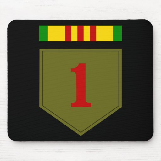 1st I.D. with Vietnam Service Ribbon Mousepad
