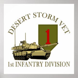 1st ID Desert Storm Vet Poster
