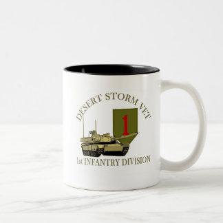 1st ID Desert Storm Vet Two-Tone Coffee Mug