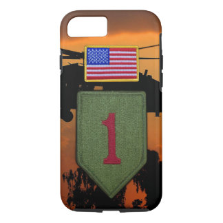1st ID infantry big red 1 veterans vets iPhone 7 Case