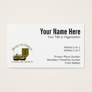 1st ID Iraq Vet - M1 Tank Business Card