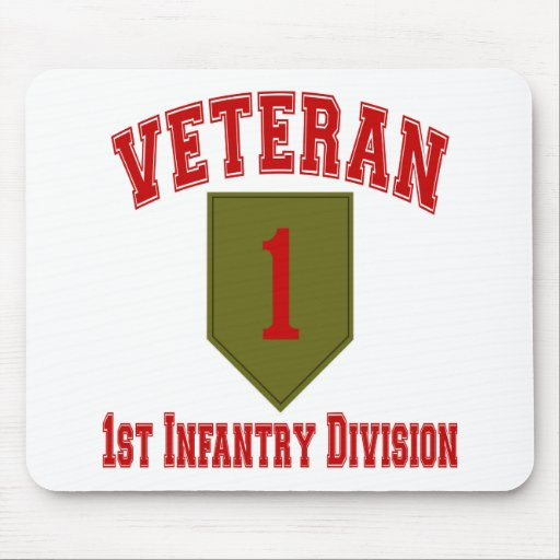 1st ID Vet - College Style Mouse Mats