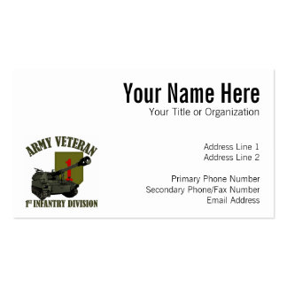 1st ID Veteran - M109 Howitzer Business Card
