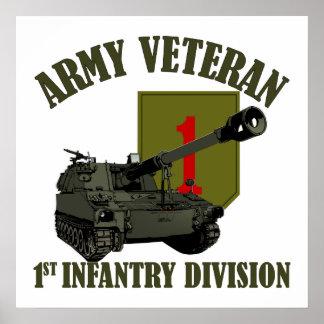 1st ID Veteran - M109 Howitzer Print